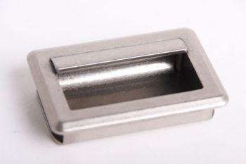 Greep infrees zilver antiek 64mm (75x51mm)
