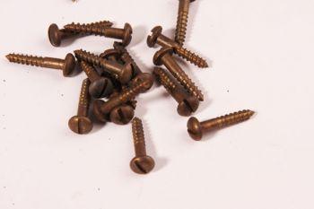 Schroeven bolkop 2.5 x 16mm brons antiek gleuf 100 stuks
