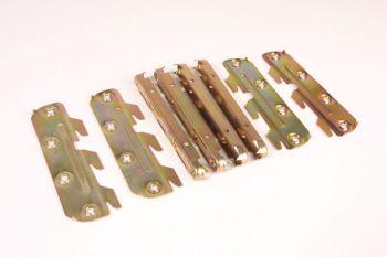 Ledikanthaak set 8 onderdelen 130mm bedbeslag ijzer messing