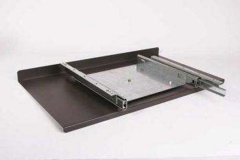 Uitschuif systeem draaibaar grijs-bruin lavabruin 650mm zs