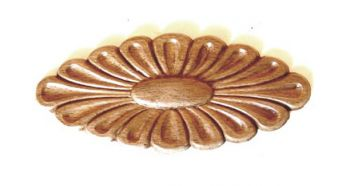 Ornament - Rozet Beuken 140 mm