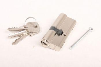 Profiel-Cilinderslot 30/45 nikkel met 3 sleutels