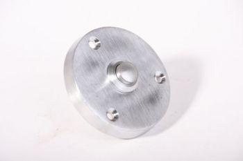 Deurbel-beldrukker geborsteld chroom 57mm rond