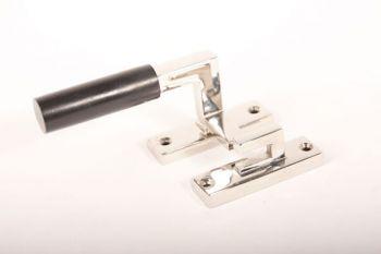Raamsluiting Links Bauhaus nikkel/geborsteld nikkel-ebbenhout