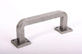 Deurgreep robuust vierkant met ronde hoek antiek grijs 205mm