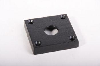 Rozet zwart vierkant 50mm voor kruk of wc-sluiting 15mm gat