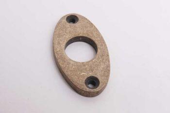 Smalle krukrozet klassiek ovaal brons antiek 25mm