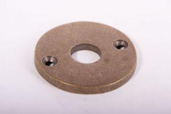 Rozet brons antiek rond 50mm voor deurkruk. Een krukrozet gemakt van massief messing met een brons antieke afwerking.