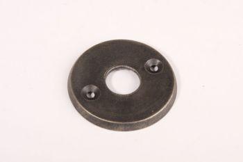 Rozet rond voor deurkruk zilver antiek 50mm