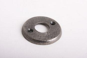 Ronde krukrozet voor deurkruk en wc-stift gietijzer antiek grijs