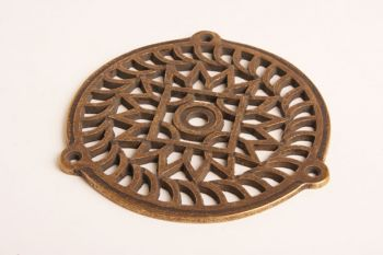 Rooster brons antiek 160mm