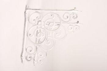 Plankdrager barok 265 x 252mm antiek wit (per stuk) zs