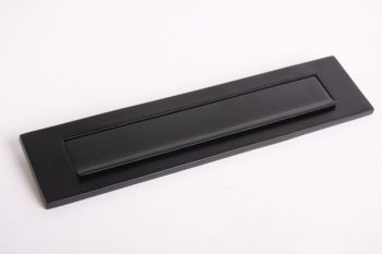 Brievenbus briefplaat zwart 328mm met regenrand