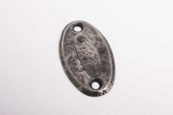 Slotplaatje met afdekplaatje voor bijzet insteekslot zilver antiek