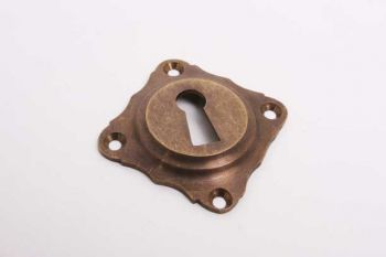 Sleutelrozet 55mm met sleutelgat brons antiek diagonaal