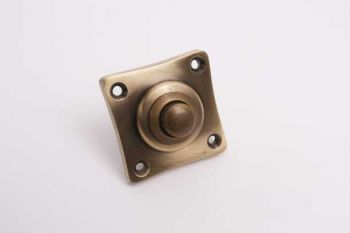 Deurbel tonmodel brons antiek 50mm - vierkante beldrukker