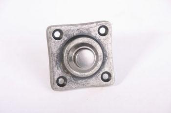 Deurbel tonmodel zilver antiek 50mm
