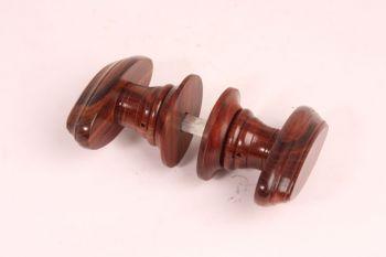 Deurkrukken rozenhout rozenhout 92mm met rozetten per paar