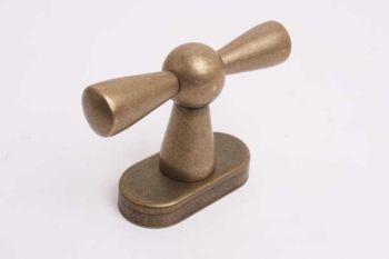 Raamkruk kluis-kruk T-vorm brons antiek voor draai-kiep ramen