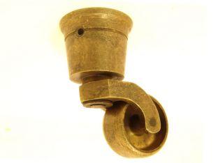 Wieltje antiek brons rond 38mm/80mm.