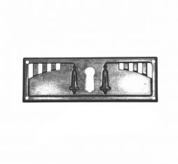 Sleutelplaat dun dwars brons antiek. Klassieke sleutelplaat gemaakt van dun massief messing plaat met een brons antieke afwerking.
