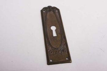 Sleutelplaat dun voor kastdeur brons antiek verticaal 90mm