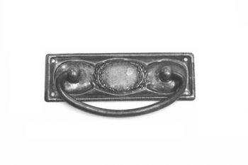 Klassieke dunne ladegreep in brons antiek 97mm