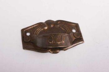 Ladetrekker dun klassiek in brons antiek 50 mm