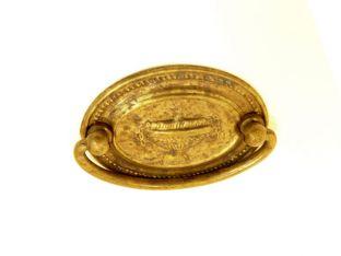 Klassieke greep voor lades brons antiek messing 46mm
