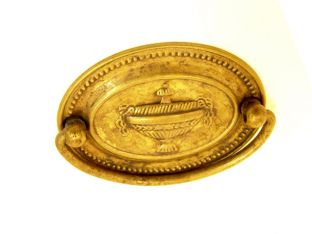 Klassieke greep voor lades brons antiek messing 57mm