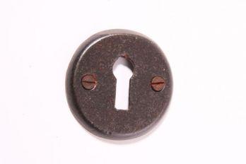 Rozet 50 mm met sleutelgat roest, tinkleur of zwart