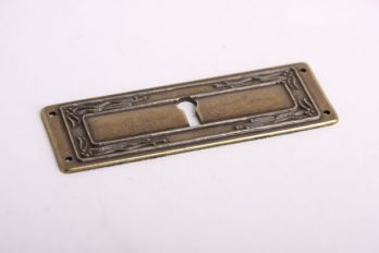 sleutelplaat Dwars Brons Antiek 33 mm (zamac)