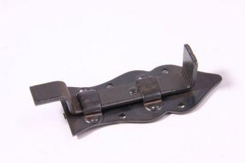 Schuifje zwart/grijs gemaakt van ijzer met bocht 80mm