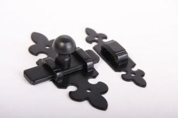 Schuif klassiek zwart 105mm met aanslagbeugeltje