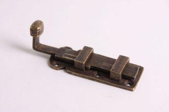 Schuif massief Brons Antiek 80mm recht