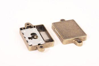 Slot opdek 15 t/m 30 mm brons antiek links of rechts zs