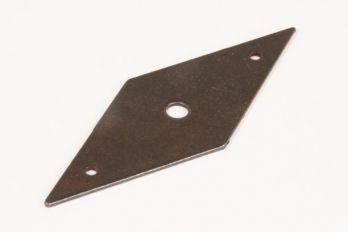 Achterplaatje 37mm roest of tinkleur ruit (98mm hoog)