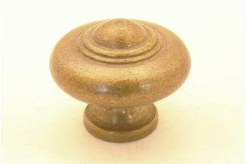 Knop brons antiek voor meubel en  keuken rond 30mm