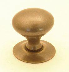 Knop brons antiek 19mm