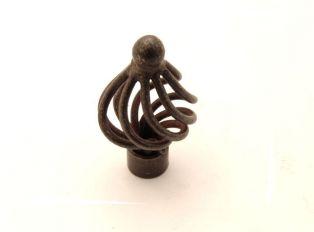Knop draadknop roest, tinkleur of zwart 34mm