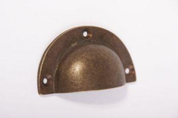 Greep brons antiek 65mm