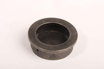Infreesgreep rond 40mm zilver antiek