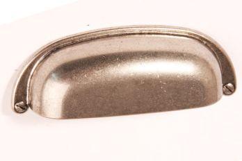 Komgreep zilver antiek 96mm