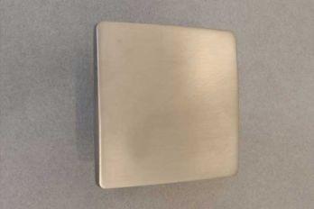 Vierkante greep modern geborsteld nikkel 50mm of 80mm
