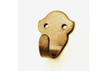 Kapstokhaak enkel brons antiek