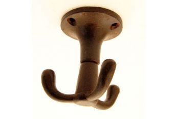 Plafondhaak gietijzer draaibaar met drie haken