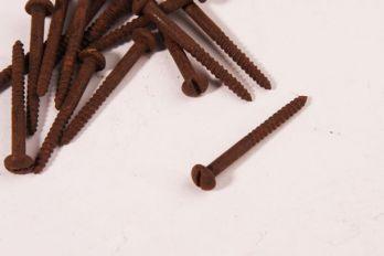 Schroeven bolkop 3.0 x 30mm roest gleuf 100 stuks