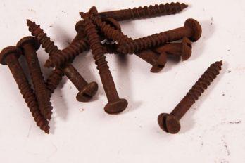 Schroeven bolkop 4.5 x 30mm roest gleuf 100 stuks
