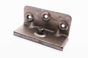 Bedsteun voor middenbalk van bedbodem verbinder set 4 onderdelen 89mm blank ijzer