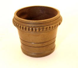 Voetje stoelpoot rond brons antiek 35mm